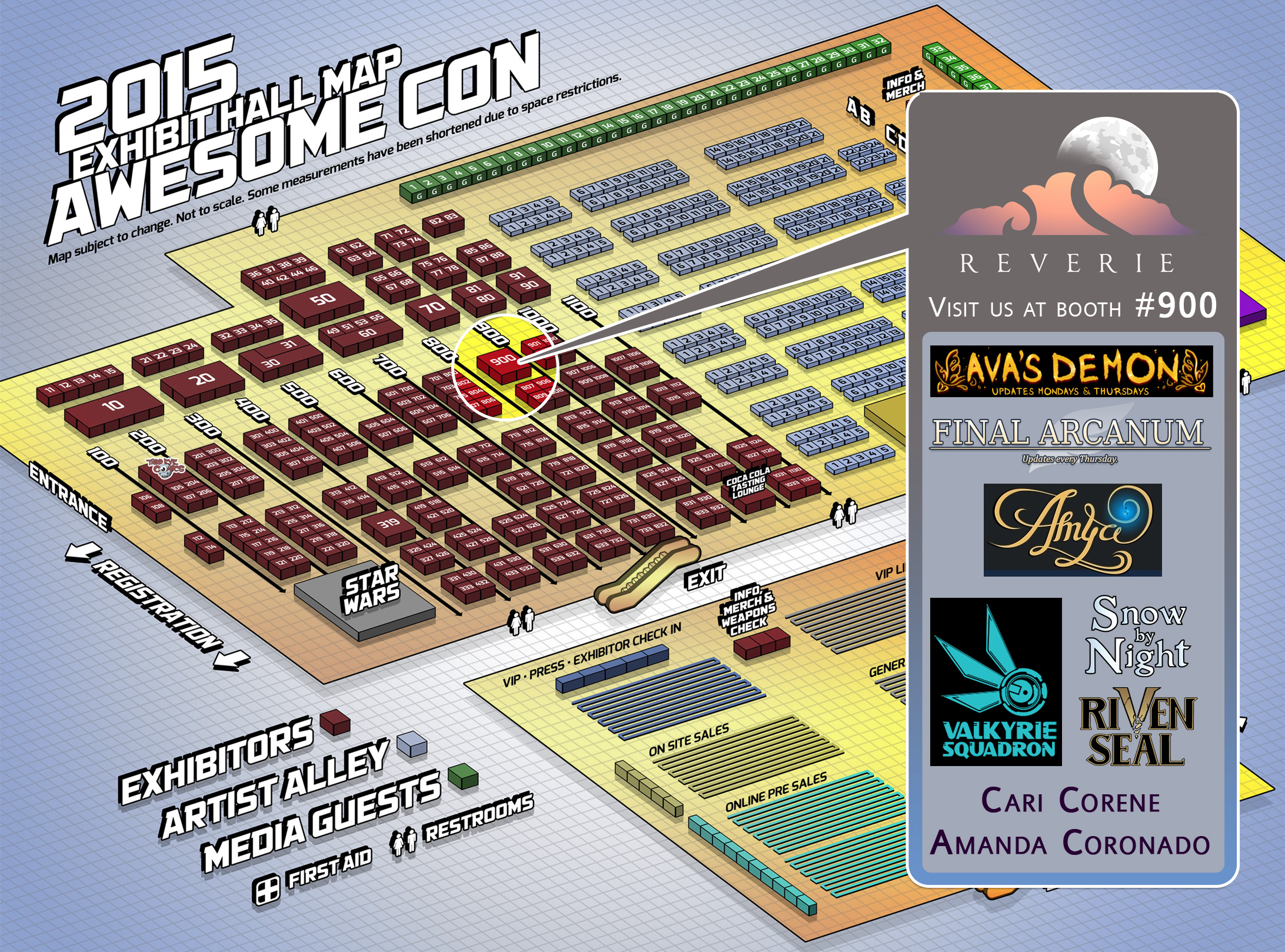 AwesomeCon Floor Plan
